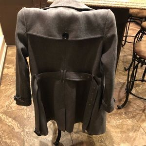 Burberry Gray Wool Trench Coat